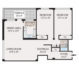Two Bedroom 1348 sq. ft.