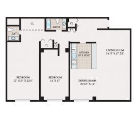 Two Bedroom 1608 sq. ft.